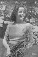 ladies wartime 1940s knitting pattern