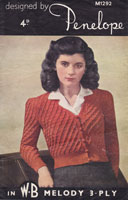 vintage ladies knitting pattern 1940s