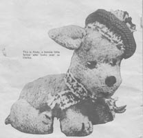 vintage knitting pattern for westie dog