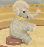 vintage knitting pattern toyelephant