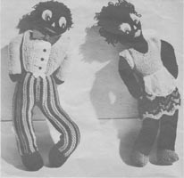 vintage toy knitting pattern for gollys