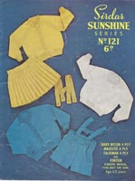 vintage baby knitting pattern for girls skirt and jumper