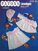 vintage crochet pattern for baby matinee