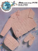 crochet pattern for baby matinee jacket vintage