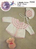 crochet pattern for baby jacket vintage