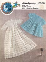 crochet baby christening dress pattern vintage