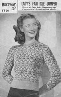 bestway fair isle knitting patterns 1940