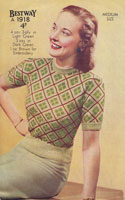 vintage ladies fair isle jumper 1940s