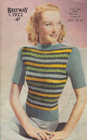 fair isle vintage knitting pattern for ladies jumper