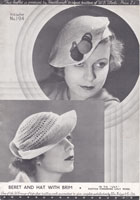 vintage ladies hats in crochet 1930s