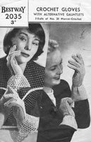 vintage crochet gloves pattern 1940s