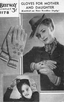 vintage knitting pattern ladies go=loves wartime 1940s