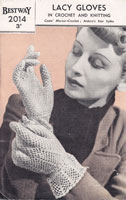 vintage crochet ladies cglove pattern 1940s
