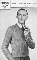 vintage mens jumper knitting pattern 1940s