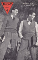 vintage mens tank top knitting pattern 1940s