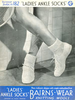 ladies tennis sock knitting patterns