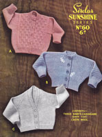 vintage baby knitting pattern baby cardigans 1950s