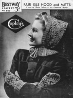 fair isle pixie hood knitting patterns