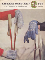 vintage fair isle gloves ladies 1950s