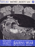 vintage baby knitting patterns 1950s