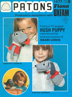 vintage knitting pattern for hush puppy hand puppet