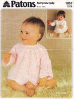vintage crochet pattern for baby dress