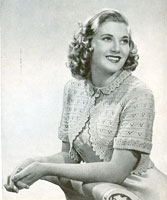 vintage bed jacket knitting pattern