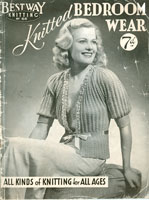 vintage bed jacket knitting patterns
