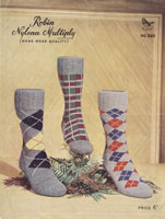 vintage mens knitting patterns for socks