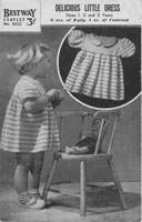vintage baby knitting pattern for baby dress 1940