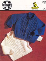 vintage baby cardigan knitting pattern double knitting 1970s