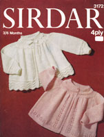 vintage Sirdar 1970s matinee jackets 3 to six months knitting pattern