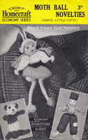 vintage mothball cover crochet  pattern toy