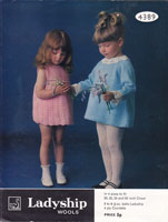 vintage baby dress knitting and crochet pattern ladyship 4389