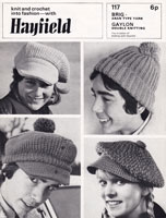 vintage ladies hat knitting patterns