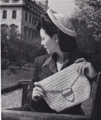 vintage knitting ladies hats 1950