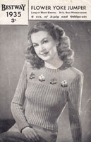 vintage fair isle ladies knitting pattern 1940