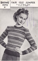 ladies fair isle knitting pattern 1940