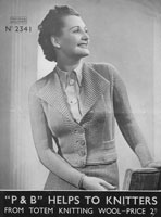 vintage ladies cardigan 1930s knitting patterns