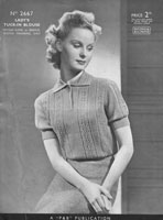 patons 1930s pattern for ladies jumper
