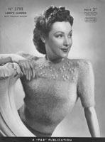 vintage 1930s knitting pattern for ladies jumper