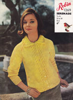vintage 1960s jacket knitting patterns