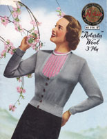 vintage ladies knitting pattern1950s