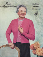 vintage 1950s knitting pattern for fuller figure