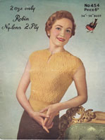 vintage 1950s summer jumper knitting patterns
