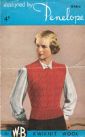 vintage knitting pattern fro ladies tank top