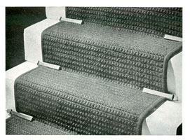 vintage knitting pattern for staircarpet