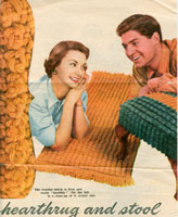 vintage rug knitting patterns
