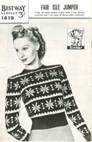vintage fair isle knitting patterns