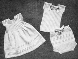 vintage baby knitting pattern for 1940s undies